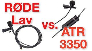 rde lavalier vs audio technica atr3350 with zoom h1