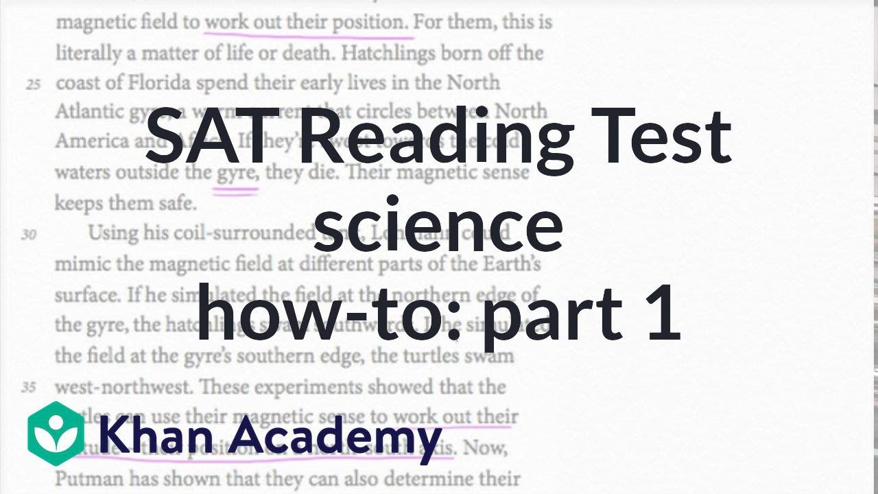 Reading Science How To Part 1 Reading Writing Sat Khan