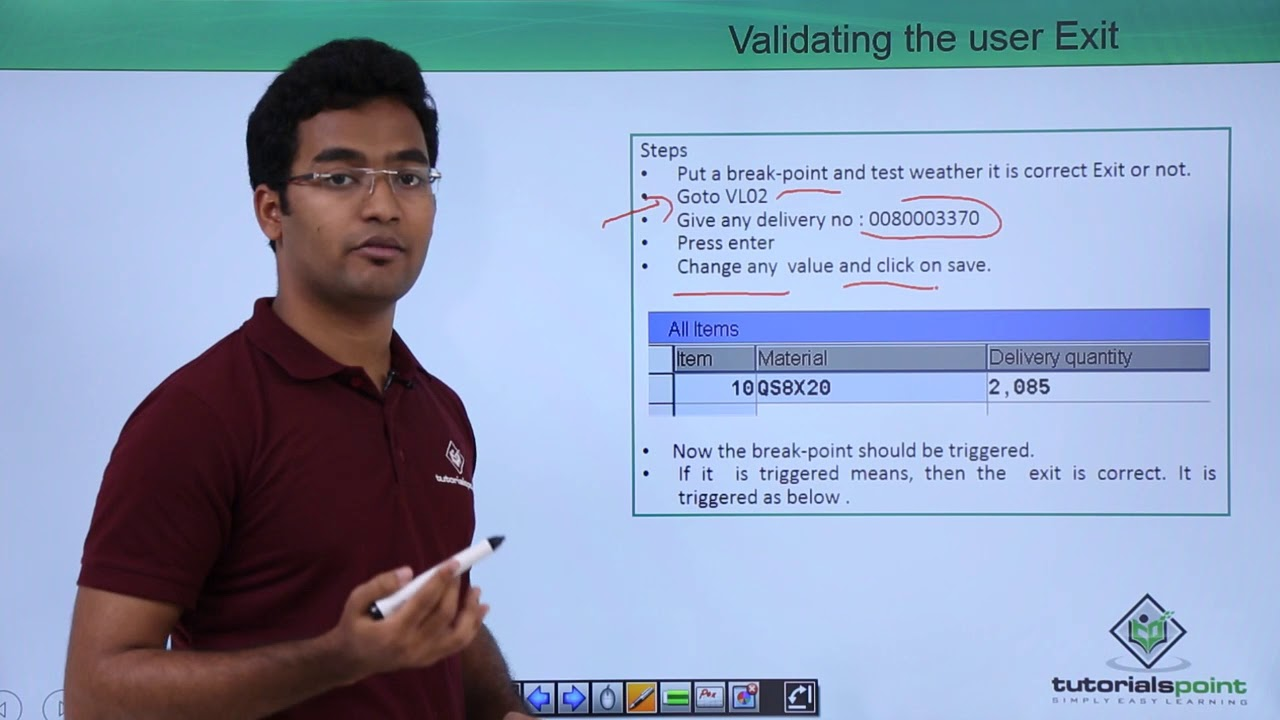 SAP ABAP - Steps to Find User Exits