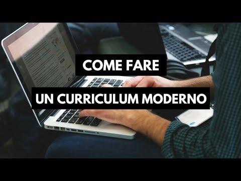 Come Fare Il Curriculum - 2018 - Word Tutorial Ita