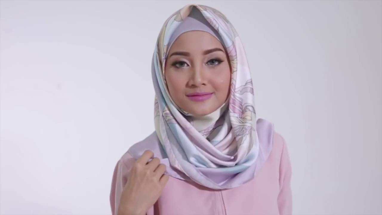 Tutorial Hijab 2016 Tutorial Hijab Segi Empat Satin Motif By Linda