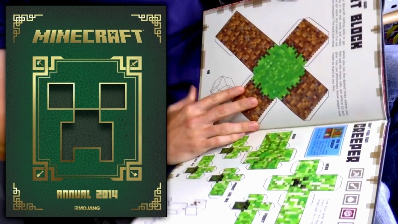minecraft annual 2014 2016 book review youtube minecraft books pdf