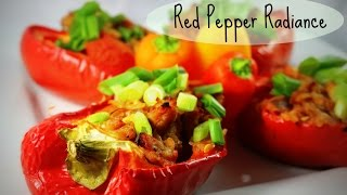 Healthy Stuffed Red Bell Peppers