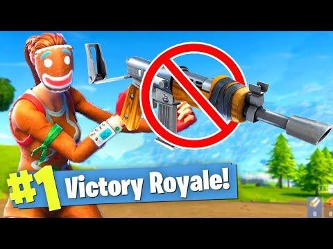 WINNING Fortnite Battle Royale with NO GUNS!