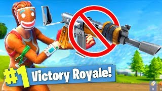 WINNING Fortnite Battle Royale with NO GUNS?