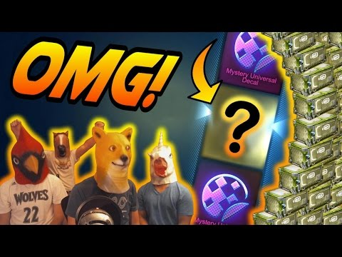 SQUAD UNBOXING! - Huge C4 Rocket League Crate Opening (CC4 Painted Wheels/Mystery Decals)