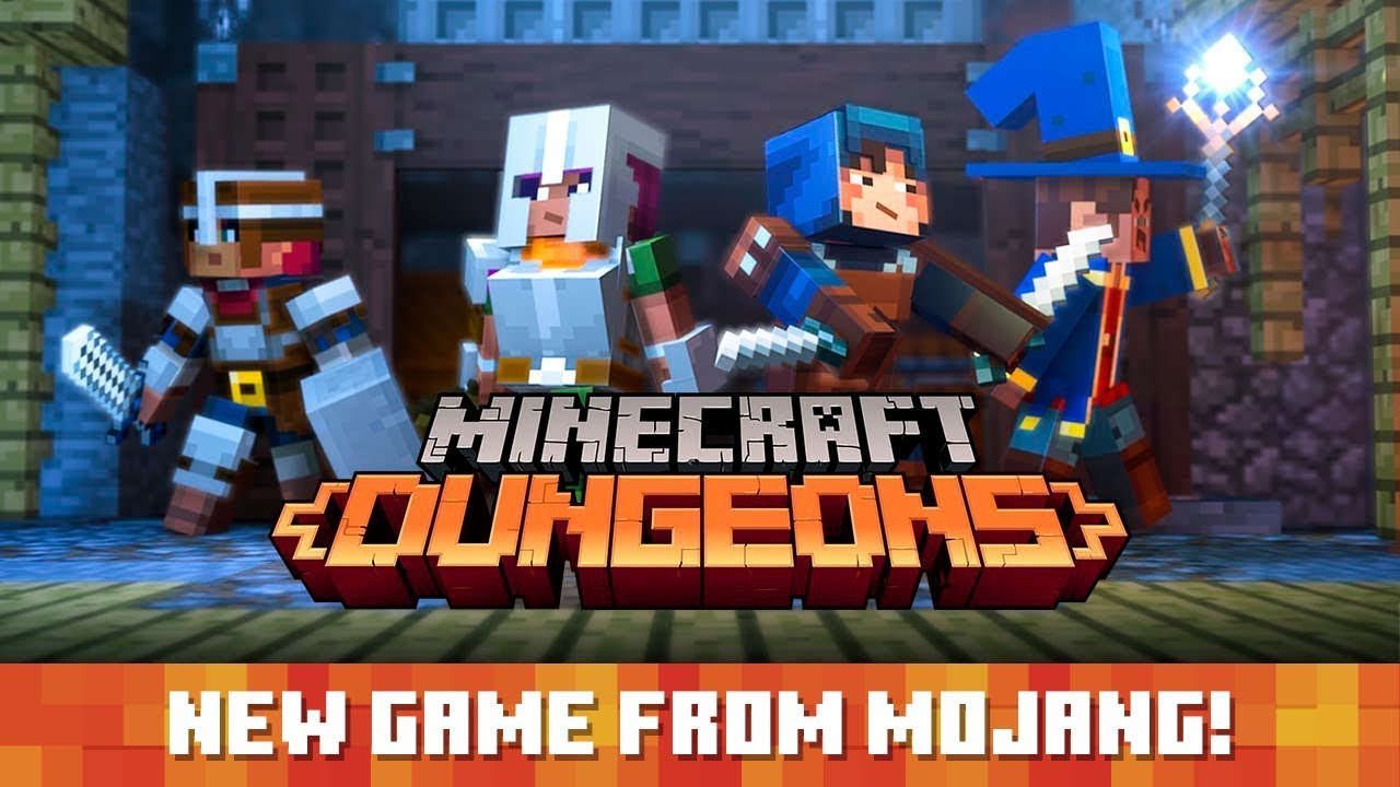 Minecraft Dungeons Announce Trailer Youtube