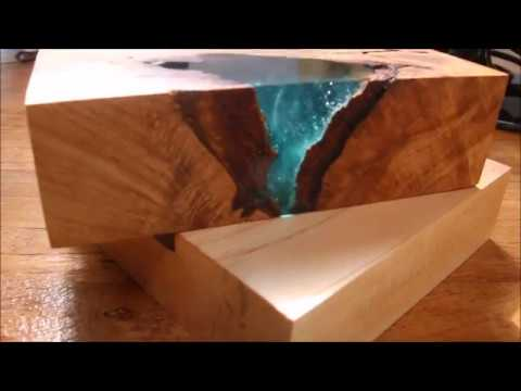 Epoxy River Table Test Pice Youtube