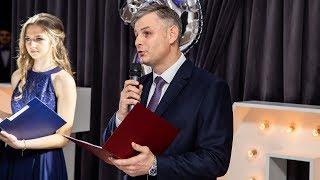 Studniówka II LO w Ostrołęce - wystąpienie dyrektora