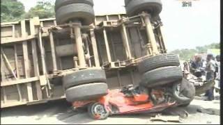 Grave accident sur l'autoroute du Nord à Yopougon (Âmes sensibles s'abstenir)