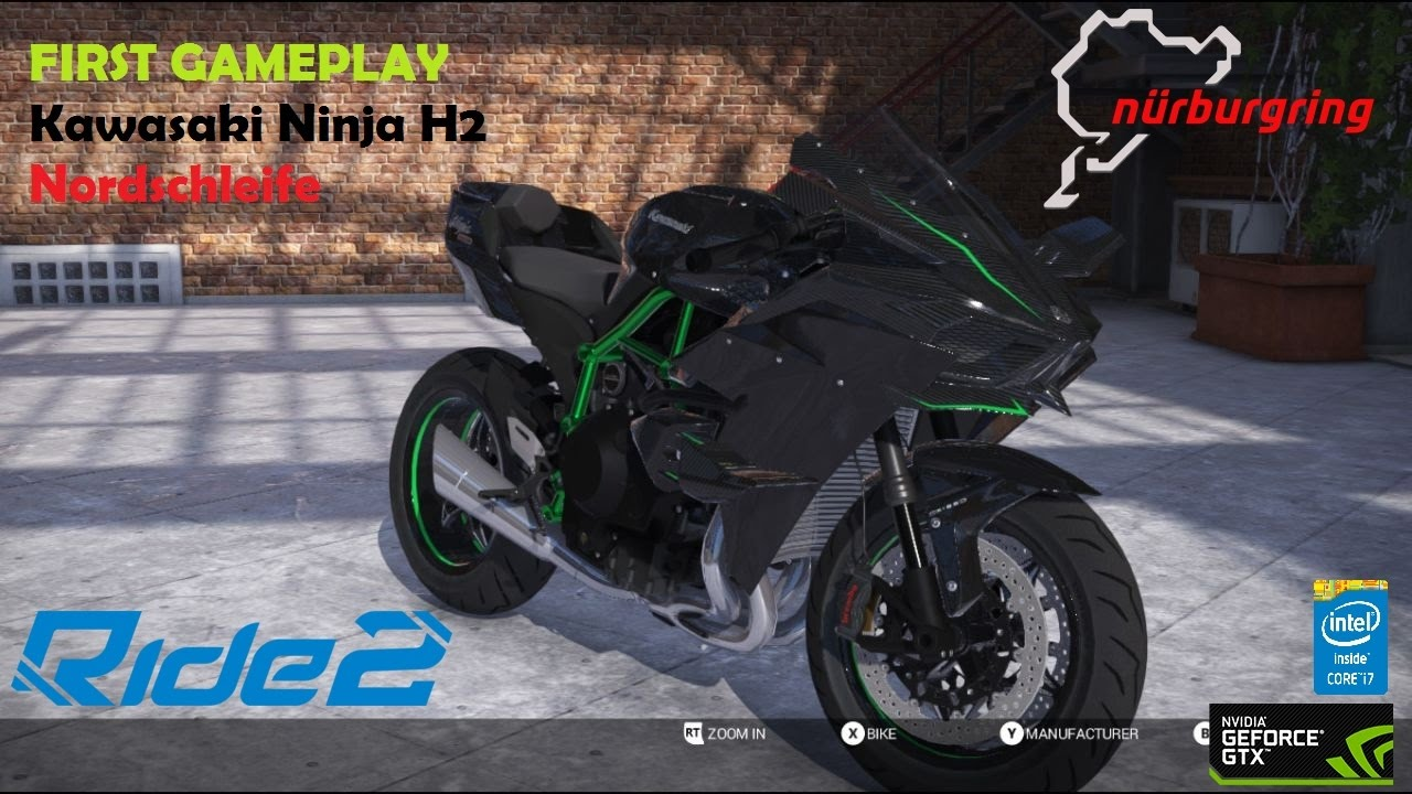 ride 2 pc gameplay nordschleife kawasaki ninja h2. Black Bedroom Furniture Sets. Home Design Ideas