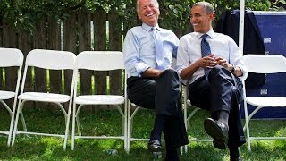 Barack Obama and Joe Biden are the definition of 'bromance'