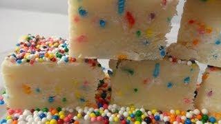 Rainbow Sprinkle Cake Batter Fudge -with Yoyomax12