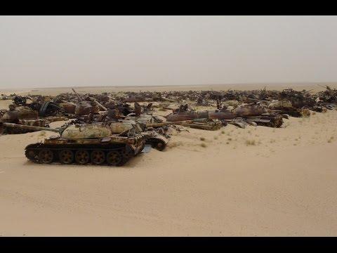 Iraqi Tank Graveyard at Kuwait 1994 (Gulf War)