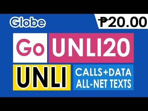 How to Register Globe GoUNLI20 - 20 Pesos Unli Call and Text to All for 1 Day