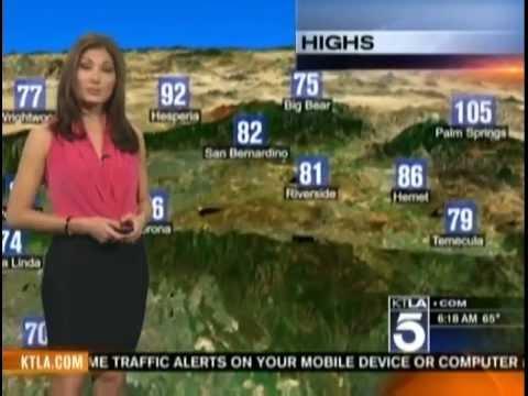 KTLA - Breaking News: Liberte Chan New Weekend Morning Weather Girl (June  2nd 2012)