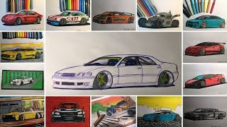 Toyota Chaser | Speed Drawing