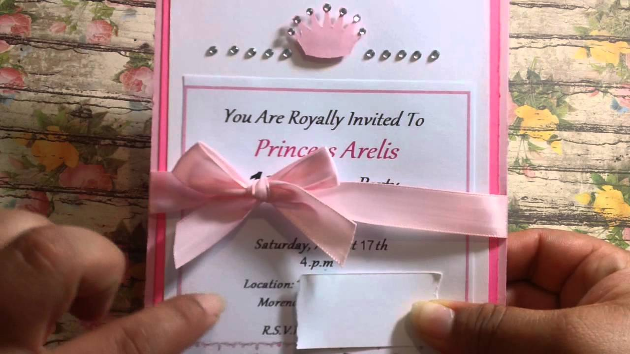 Princess Invitations - YouTube