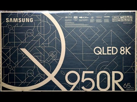 Samsung QLED 8K, Q950R Unboxing Setup and Retail Demo 65Q950R