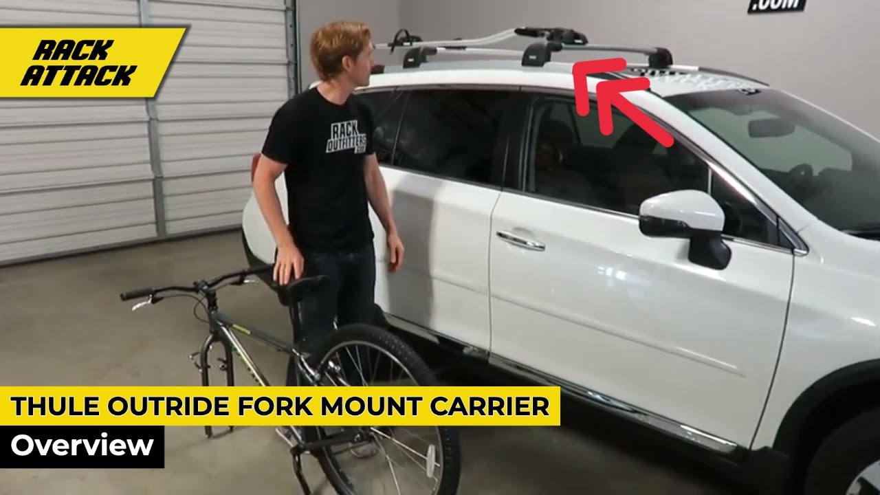 Thule Outride Roof Top Fork Mount Bike Rack Overview Youtube