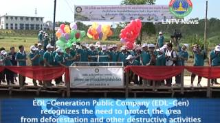 Lao NEWS on LNTV-EDL Gene recognises the need to protect the area from deforestation 4/6/2013