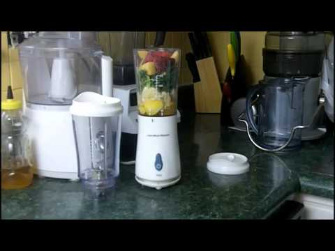 Hamilton Beach Single Serve Blender Smoothie Maker Review | Making A Smoothie | Green Smoothie