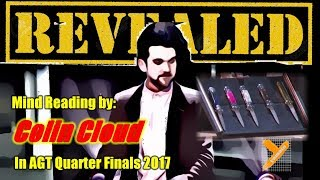 Revealed: Colin Cloud (Dual Reality Murder Trick) in AGT 2017 Quarter Finals