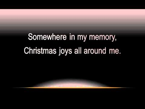 Somewhere In My Memory with lyrics, widescreen