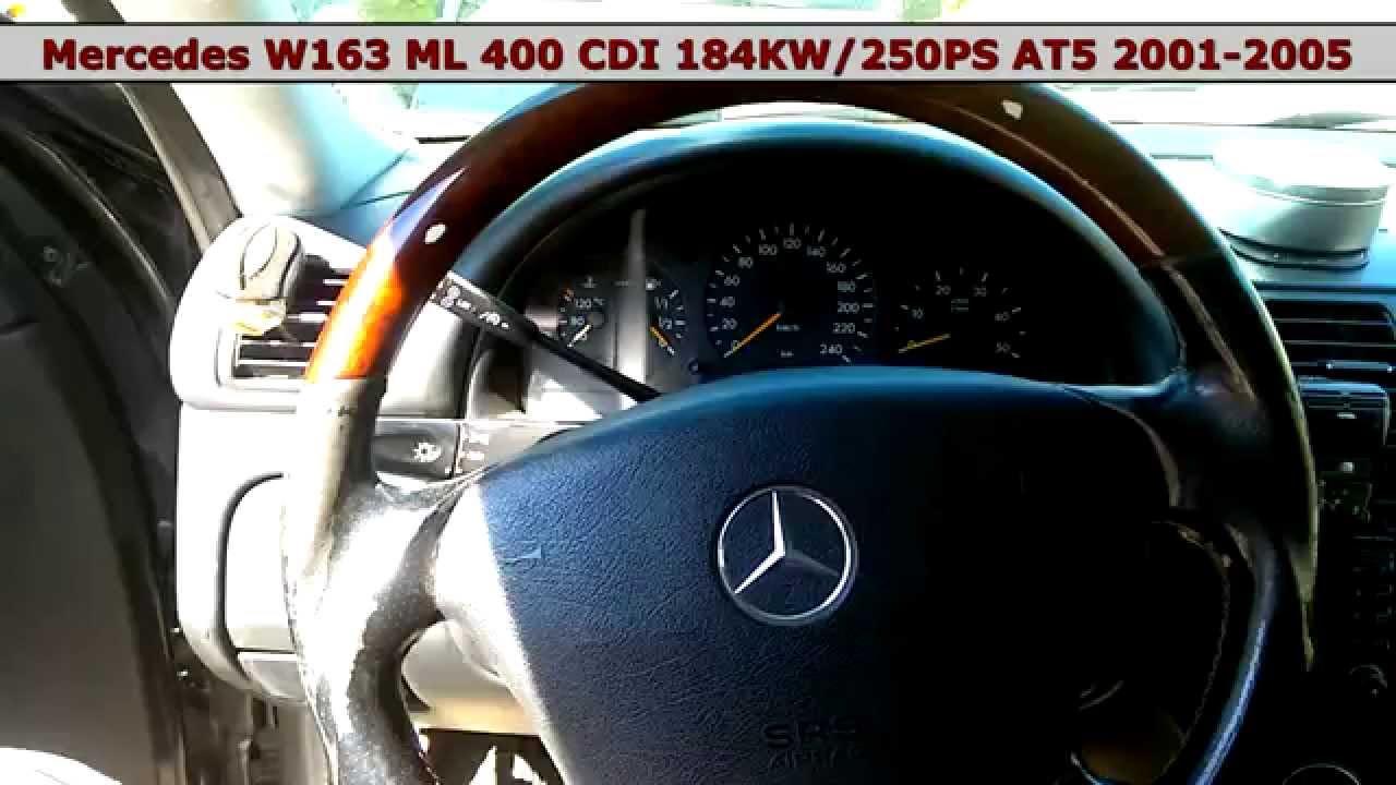 Mercedes ml 400 cdi 4 0 v8 om 628 963 w163 engine speed test rpm youtube