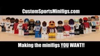 Custom Lego Sports Minifigures - Basketball, Football, Baseball, Soccer, Hockey, and Auto Racing