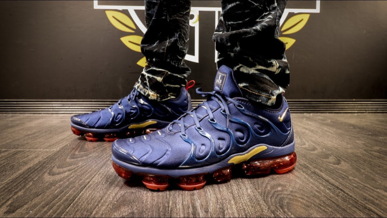outlet super cute high fashion NIKE AIR VAPORMAX PLUS MIDNIGHT NAVY + ON FOOT - YouTube