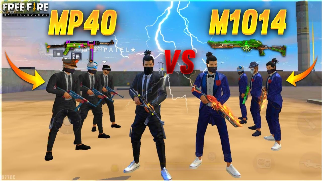 MP40 vs M1014 FACTORY CHALLENGE😂|4 VS 4 WHO WILL WIN ? | factory free fire|Total gaming |A_S GAMING
