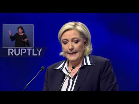 France: Le Pen slams French 'oligarchy' for backing Macron