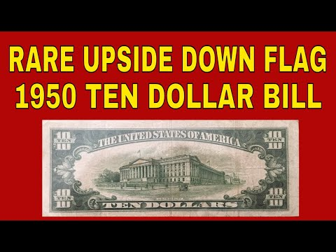 Rare Money To Look For! Upside Down Flag $10 Bill From 1950 For Our Collection!