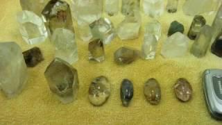 Pedras Exoticas Cristal Rutilo Lodolita Clorita Cabelo Exotico Raros