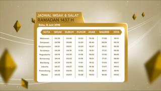 JADWAL IMSAK & SHOLAT 8 JUNI - RTV