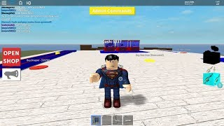 Destroying noobs as superman in .S.H.T. Roblox
