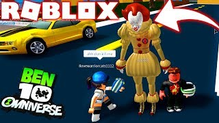 ROBLOX! -BEN 10 PENNYWISE-IT THE NEW OMNITRIX ALIEN THING-BEN 10 SIMULATOR