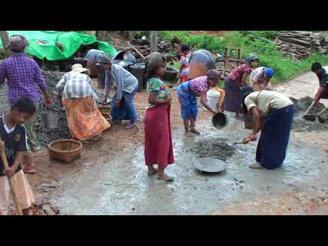 Myanmar 2017 15 Building the road