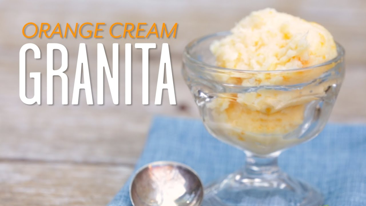 Orange Cream Granita Video How To Make an Orange Cream Granita  Southern Living