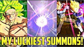 MY LUCKIEST SUMMONS EVER!!! | NEW SUMMON ANIMATION! | Dragon Ball Legends Summons!