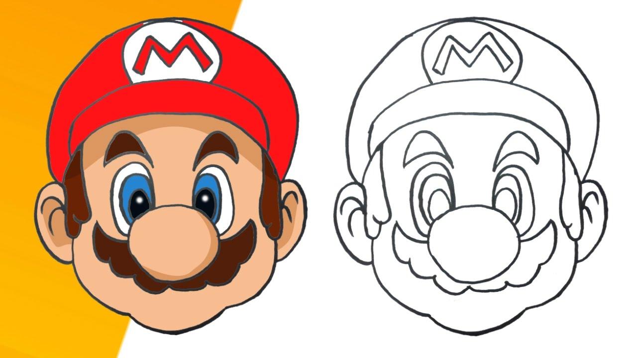 Como Dibujar A Mario Bros Paso A Paso How To Draw Mario Bros Youtube