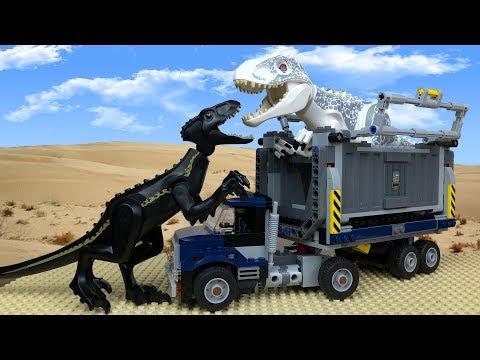 Jurassic World in LEGO 🔴 Indoraptor vs Indominus Rex- 2 🦖