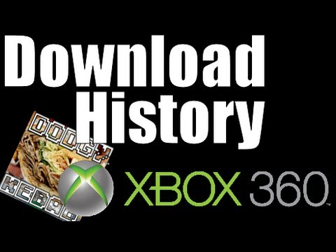 How to find your Download / Purchase History on Xbox 360