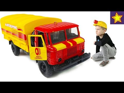 Машинки Технопарк ГАЗ 66 Автосервис и Похитители люков Cars Toys