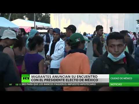 La caravana migrante se reunirá con López Obrador en México