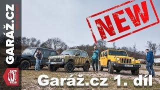 GARÁŽ.cz 01x01: Mercedes-Benz G vs. Lada Niva vs Jeep Wrangler, Trabanti a Alfa 4C Spider