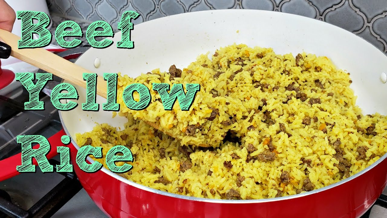 Ground Beef And Yellow Rice Recipe One Pot Meal Idea Simply Mama Cooks Youtube