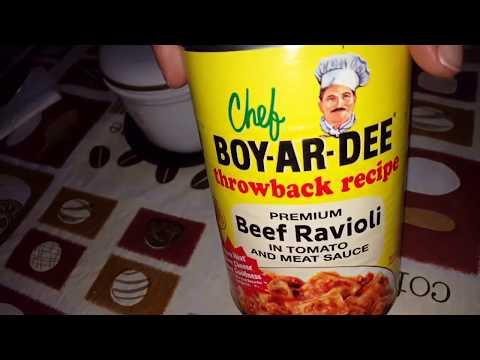 Chef BOY-AR-DEE Throwback Recipe Beef Ravioli Review