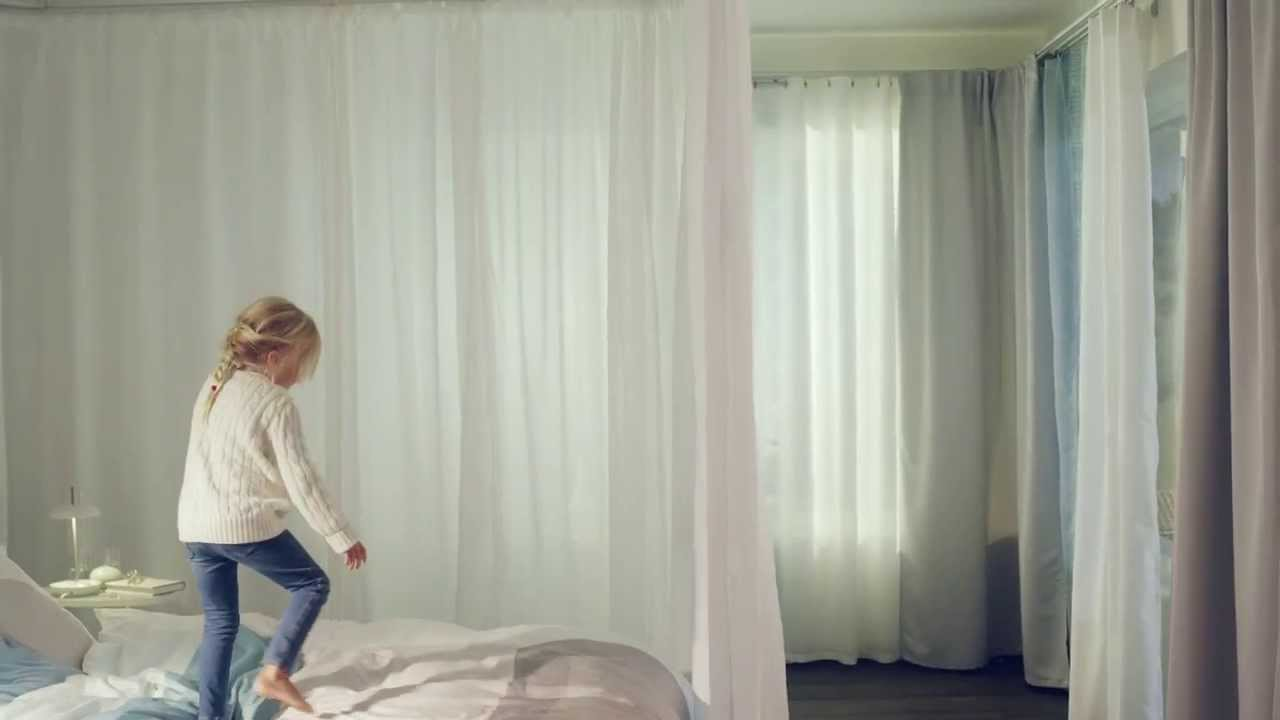 hang curtains with curtain tracks inspiration video youtube - Hanging Drapery